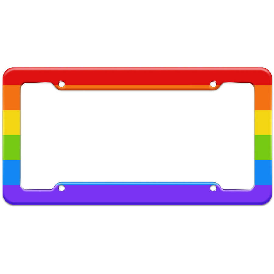 I brake for gay bars license plate frame holder
