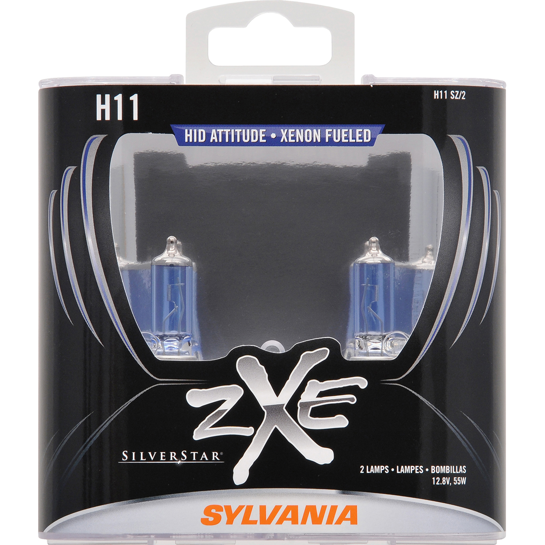 SYLVANIA H11 SilverStar zXe Halogen Headlight Bulb, Pack of 2