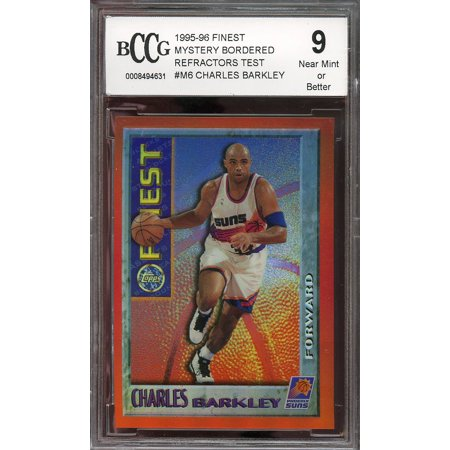 1995 96 Finest Mystery Bordered Refractors Test  M6 Charles Barkley Bgs Bccg 9