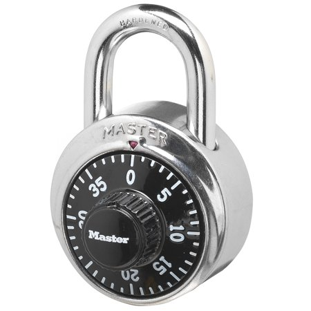 Master Lock Padlock 1500D, Preset Combination Lock, 1-7/8 in. Wide, Black Dial