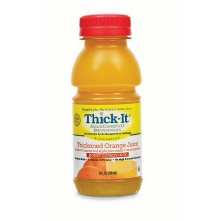 Thick-It AquaCareH2O Thickened Beverage Orange Ready to Use Honey 8 oz. Bottle, Case of 24