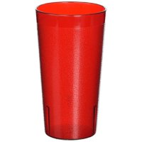 Winco Pebbled Tumblers, 16-Ounce, Red ( Pack of 12 )