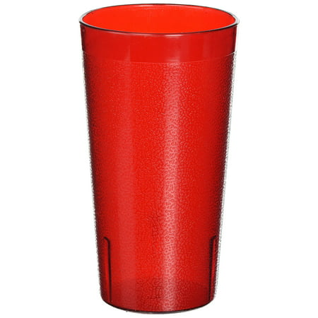 Winco Pebbled Tumblers, 16-Ounce, Red ( Pack of 12