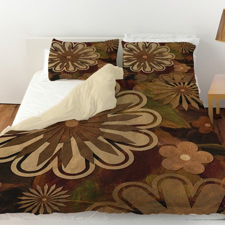 Manual Woodworkers & Weavers Floral Abstract I Duvet Cover