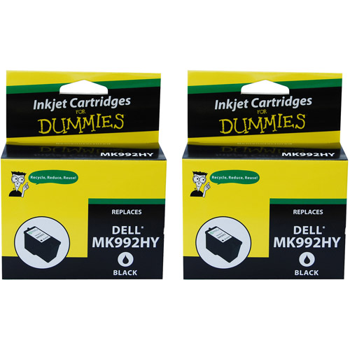 For Dummies Remanufactured Dell MK992HY Black Inkjet Cartridge Series 9, 2pk