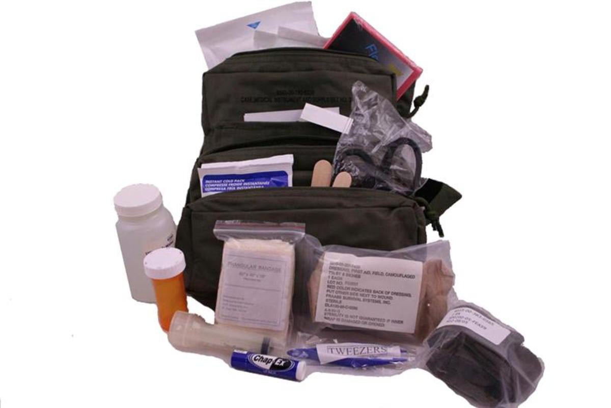 Military Combat Medic Kit with First Aid Supplies by Elite First Aid