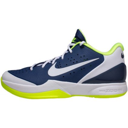 Nike Men's Air Zoom HyperAttack Volleyball Shoe - Navy/Volt - 11.5