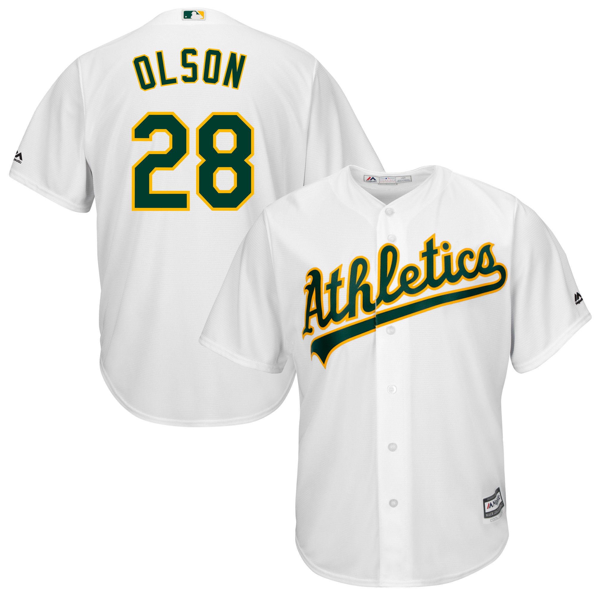 Matt Olson Oakland Athletics Majestic Home Official Cool Base Player Jersey - White