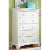 My Home Furnishings Neopolitan- Bright White 1902-405 5 Drawer Chest