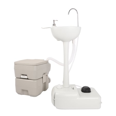 zimtown garden wash sink and toilet combo 5 gallon 20l toilet 25 gallon 10l - Hand Wash Sink