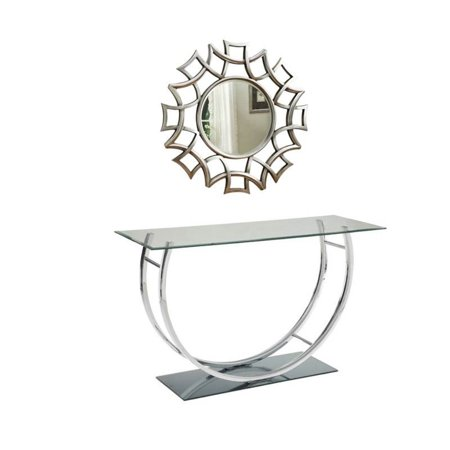 Home Square Bolton Furniture 2 Piece Hallway Set with Mirror and Console Table ()