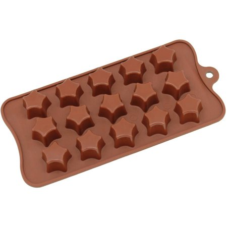 Point Star Metal Mold - Freshware 15-Cavity Super Star Silicone Mold for Chocolate, Candy and Gummy, CB-613BR