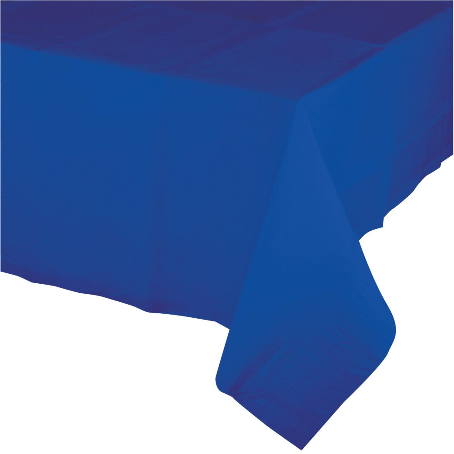 Club Pack of 12 Cobalt Blue Disposable Plastic Banquet Party Table Covers 108