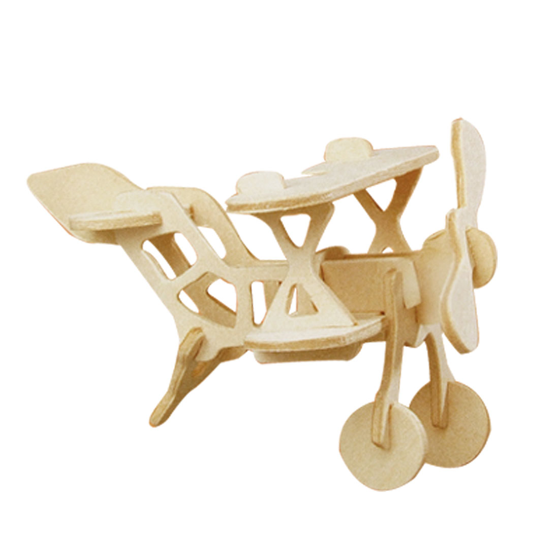 Child Intelligence Assemble Bi-plane Wooden Model Kit