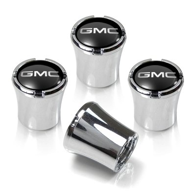 GMC Logo Chrome Tire Stem Valve Caps Logo Chrome Tire Stem