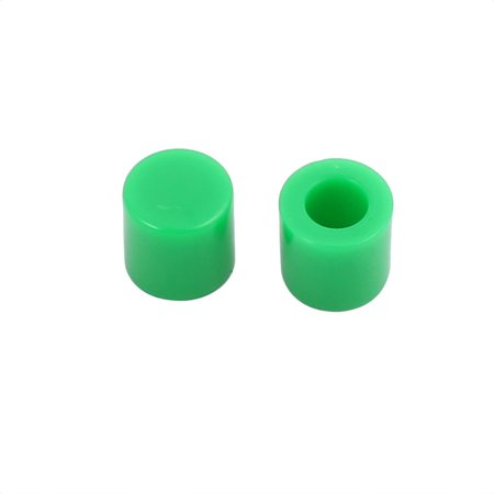 10Pcs Round Shaped Tactile Button Caps Covers Green for 6x6mm Tact Switch - image 1 of 2