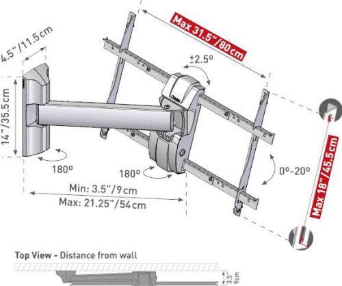 BARKAN 33B 37 Inch Rotate Swivel Tilt LCD TV Wall Mount