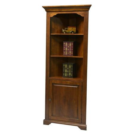 hartley corner bookcase with door in medium oak finish. Black Bedroom Furniture Sets. Home Design Ideas