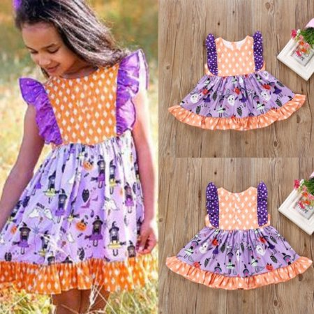 Fashion Toddler Kds Baby Girls Sleeveless Halloween Dress Dresses Outfit - Pin Up Girl Clothing For Halloween