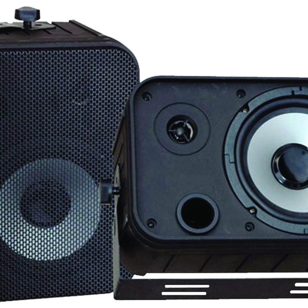 6.5'' Indoor/Outdoor Waterproof Speakers in Black