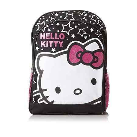 Backpack - Hello Kitty - Stars & HK Big Face Black 16