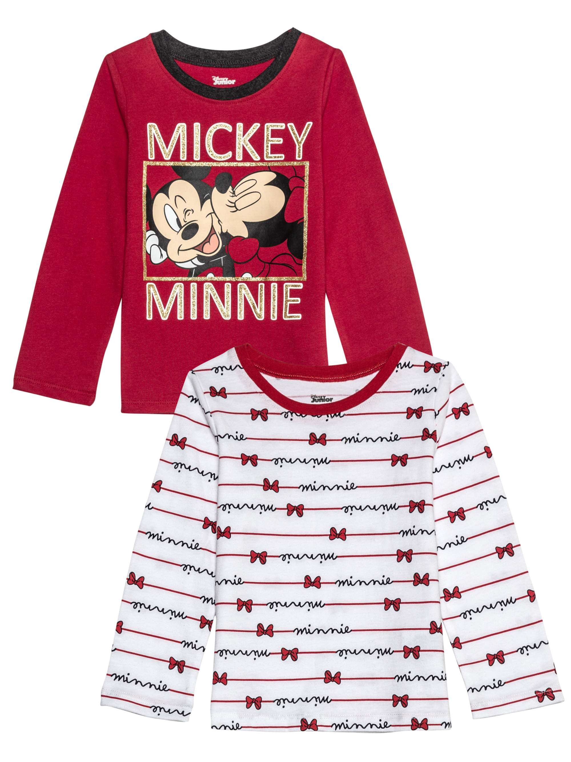 Mickey and Minnie Kiss Long Sleeve Graphic T-shirts 2pk (Baby Girls & Toddler Girls)