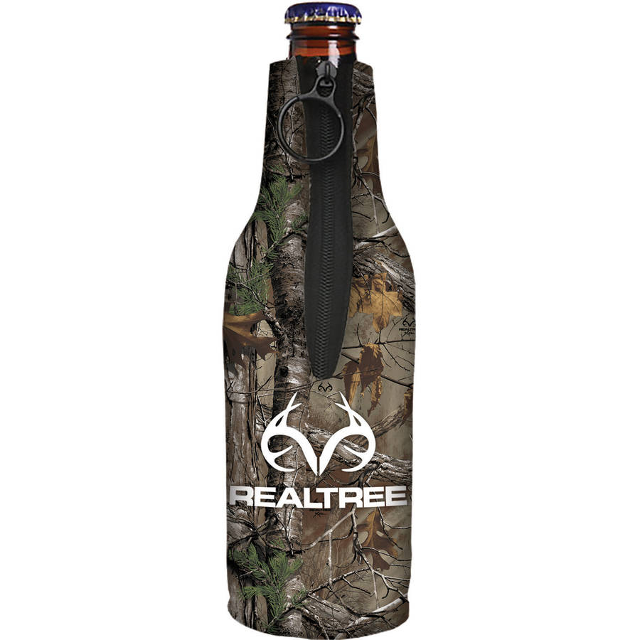 SEI Realtree Logo Bottle Cooler, Realtree Xtra