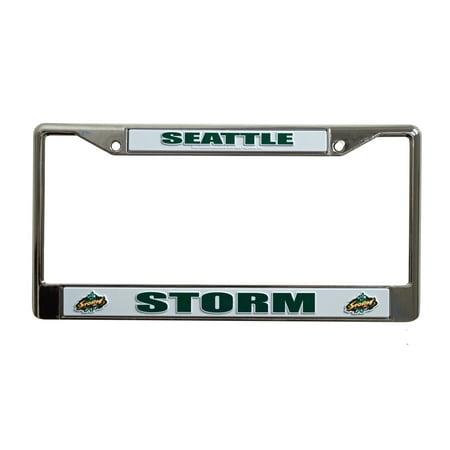 - Seattle Storm WNBA Chrome Metal License Plate Frame