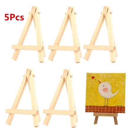 5PCS Kids Mini Wooden Easels Art Painting Card Stand Display Wedding Table Holder Drawing for School Student Artist Supplies - image 6 de 6