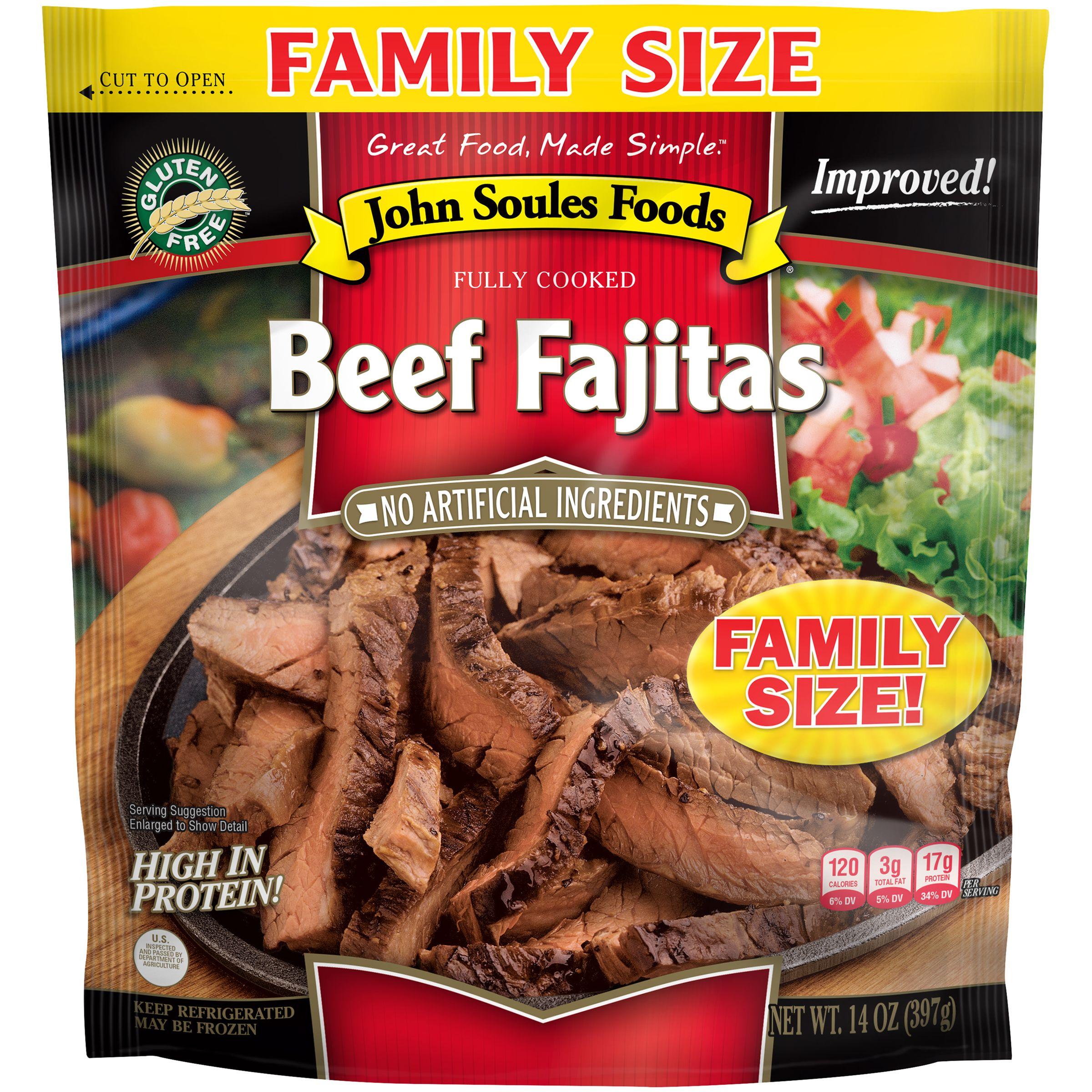 John Soules Foods Beef Fajitas, 14oz