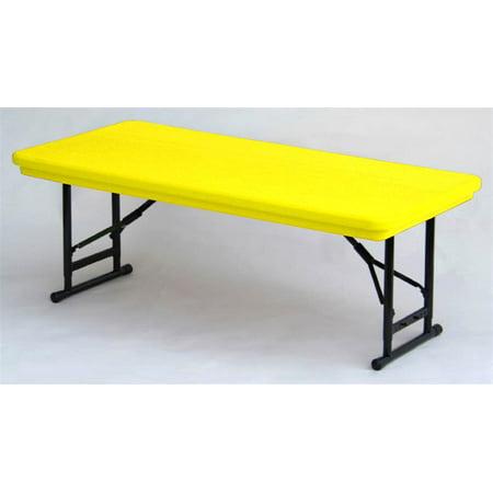 Adjule Height Folding Table In Yellow W Short Leg