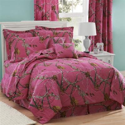 Realtree AP Hot Pink Fuchsia Camo 6 Pc TWIN SIZE Comforte...