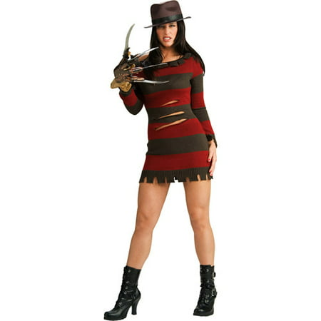 Miss Krueger Adult Halloween Costume - Light Up Halloween Costumes For Adults