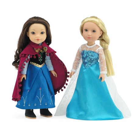 Glitter Girls Doll Clothes by Emily Rose 14 Inch Doll Clothes for Wellie Wishers | Princess Elsa and Anna Frozen Inspired 14