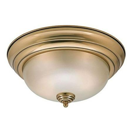 Home Decorators Collection Keswick 2-Light Brushed Brass Flush-Mount