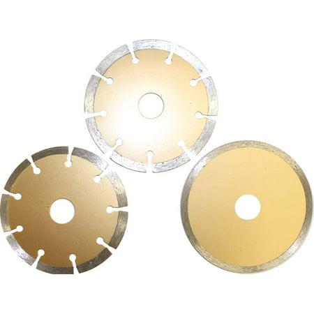 3 Piece Diamond Cutting Disc Set - Tile & Concrete - 2 Dry Cutters & 1 Wet Cutter, 115mm (Dynamic: TJ-07533) ()