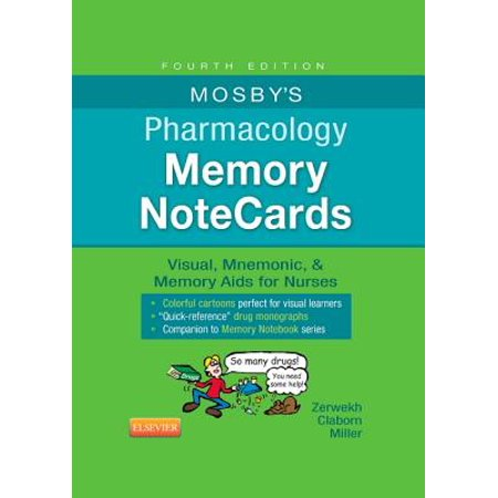 Mosby's Pharmacology Memory NoteCards: Visual, Mnemonic, & Memory Aids for