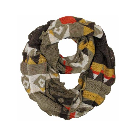 Colorful Knit Ring Infinity Scarf With Ruffled Edge Walmart Com