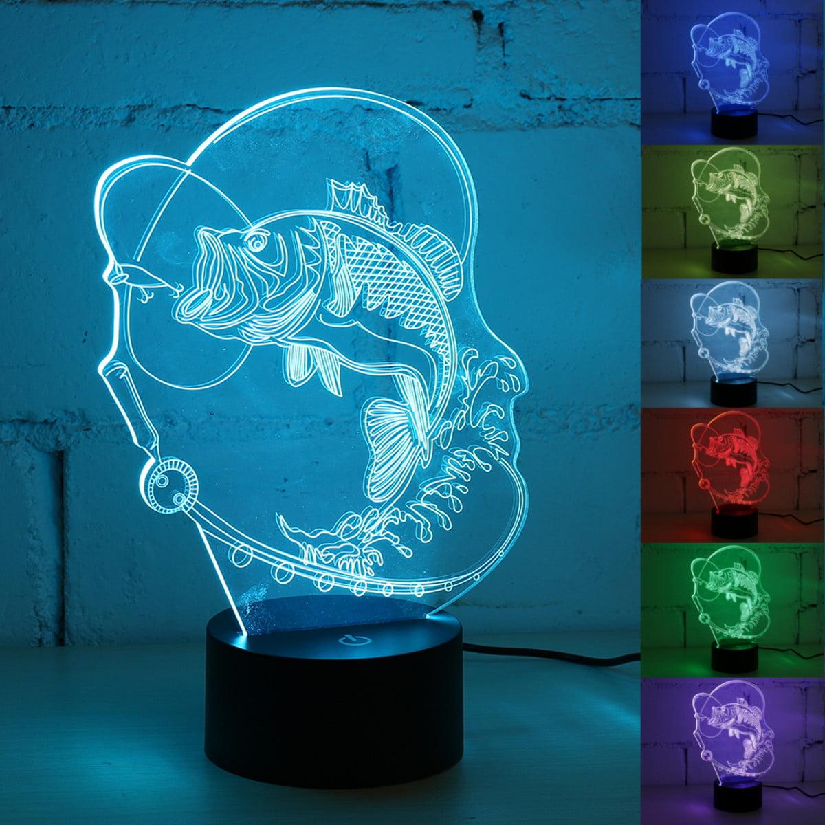 3D illusion Lamp Visual Night Light acrylic 7 Colors LED Desk Lamp Bedroom Home Decor