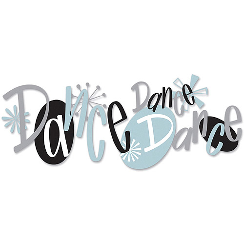 Jolee's Boutique Title Wave Dimensional Stickers, Dance Dance Dance