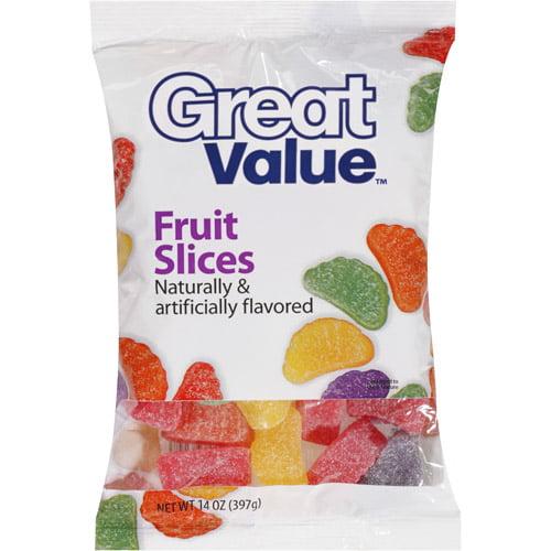 Great Value Fruit Slices, 14 oz