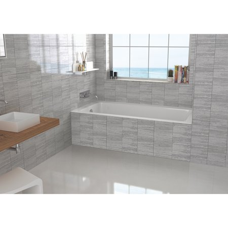 Fine Fixtures 60 Inch Alcove Bathtub With Left Side Fixed Tile X 30 19