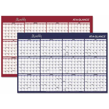 at a glance reversible horizontal erasable wall planner 48 x 32