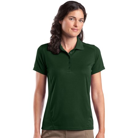 Sport tek women 39 s 5 button placket knit collar polo shirt for Button up collared sport shirts