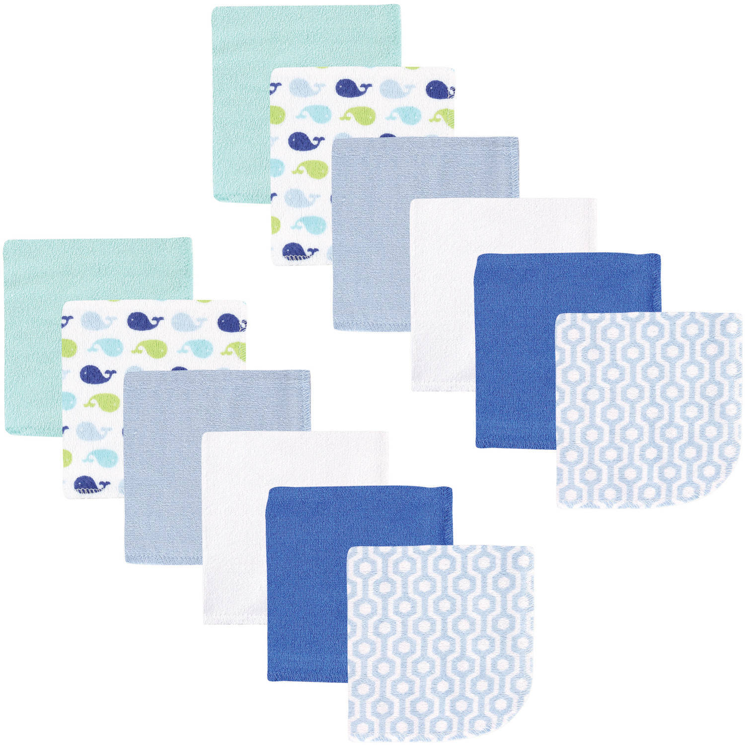 Luvable Friends Washcloths, 12pk, Boy