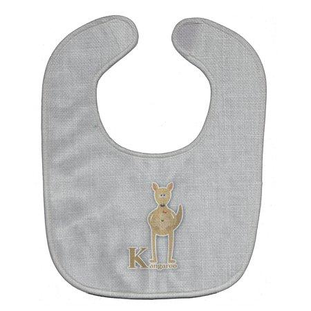 Alphabet K for Kangaroo Baby Bib - Kangaroo Baby
