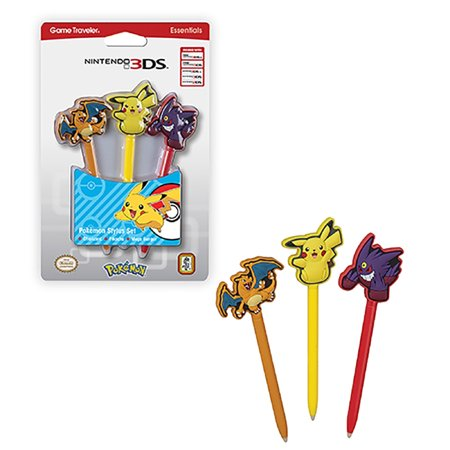 Rds Industries Inc Pokemon Stylus Set 3 Pack For Nintendo New 3Ds Xl 2Ds 3Ds