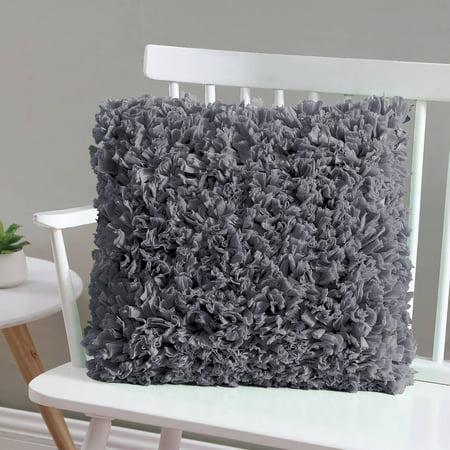 Mainstays Paper Shag Decorative Throw Pillow, 17 x 17,
