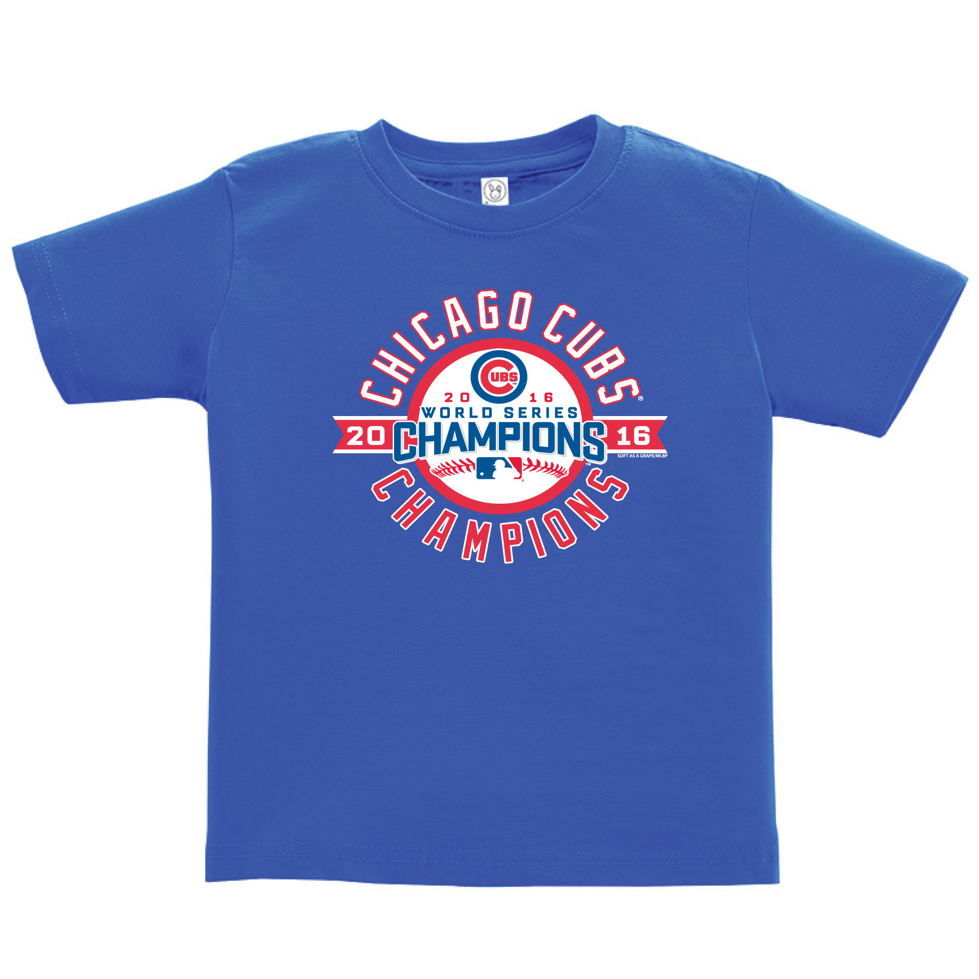 Chicago Cubs Soft as a Grape Toddler 2016 World Series Champions T-Shirt - Royal