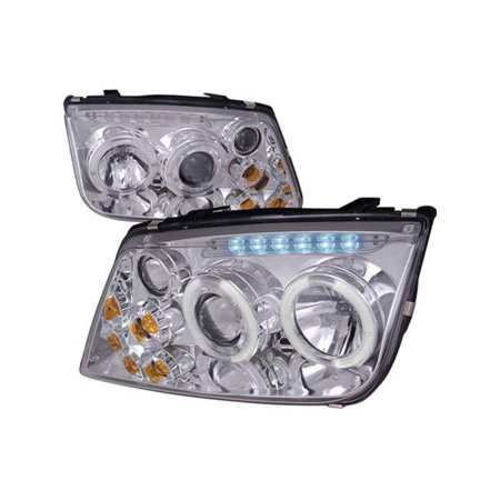 Spec D Tuning LHP-JET99-RS Head Light Housing Projector for 1999-2004 Volkswagen Jetta, Chrome - image 1 of 1